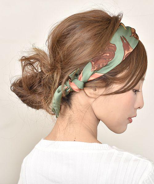 簡単 バンダナ スカーフの巻き方やヘアアレンジ24選